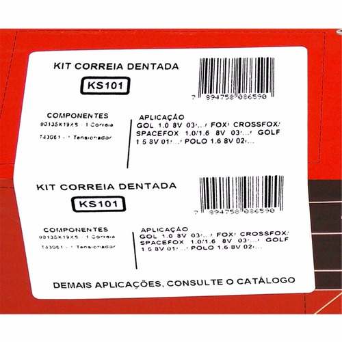 kit gates correia dentada e tensor ks101 crossfox spacefox