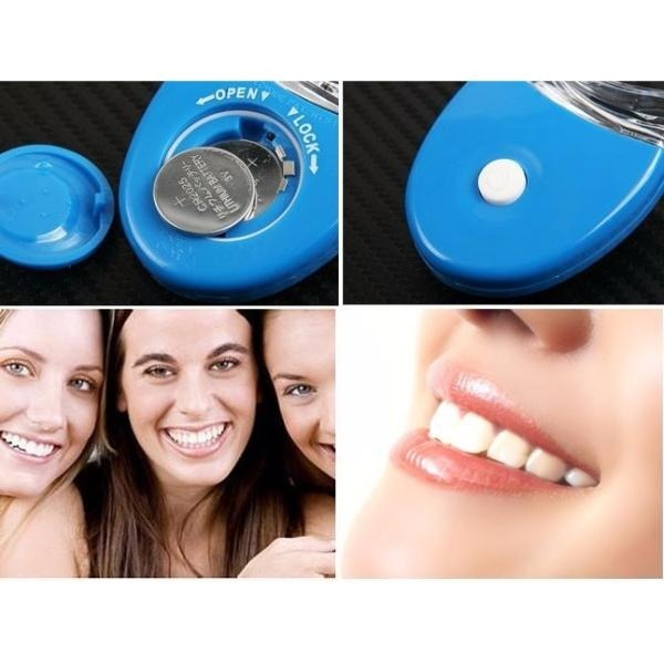 Kit Gel Clareamento Dental Clareador 44 10 Seringas Luz Led R