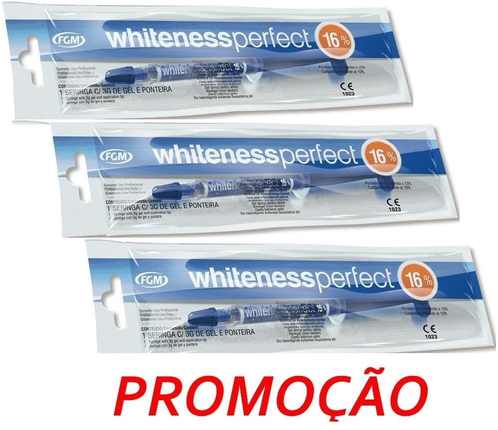 Kit Gel Clareamento Dental Whiteness C 3 16 Clareador Fgm R 90