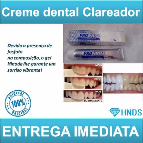 kit gel dental branqueador+enxaguante bucal hinode prowhite