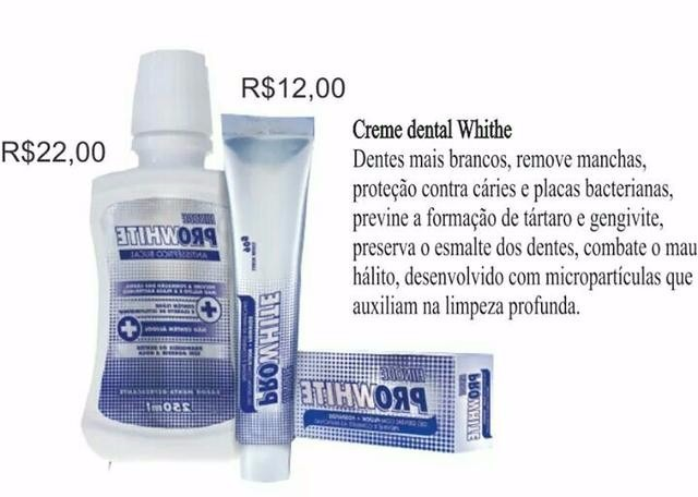 Kit Gel Dental Clareador 5 Unidades Pro White Hinode R 59 90