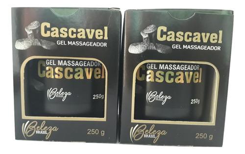 kit-gel massageador cascavel 250g-beleza brasil-duas uni.
