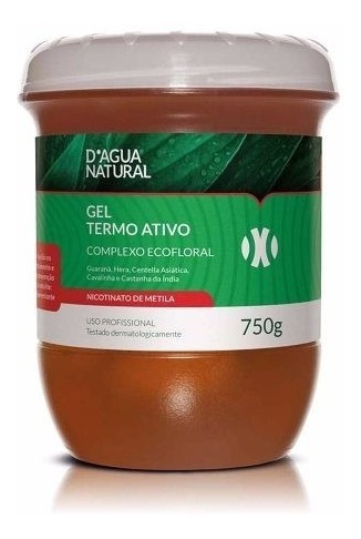 kit gel termo ativo + creme massagem redumodel dagua natural