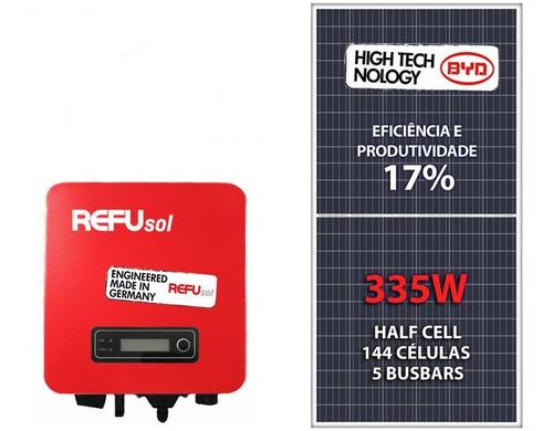 kit gerador de energia solar refusol colonial 1,34kwp