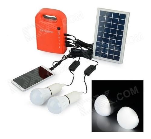 kit gerador e lâmpadas solares portáteis