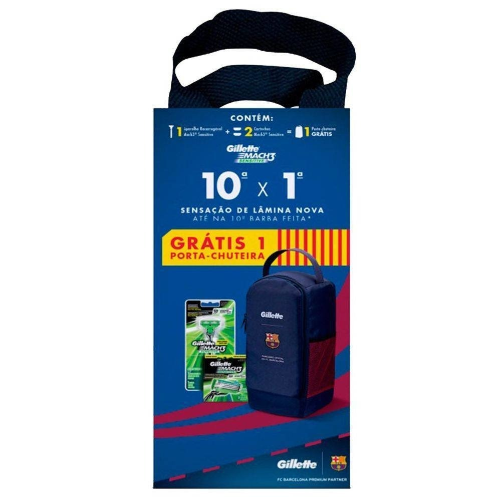 kit gillette 1 ap mach3 sensitive + 2 cargas + gratis 1 port. Carregando  zoom. 1a5a48c1f2ae1