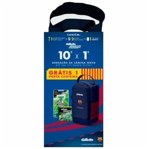 8422ed5360858 Kit Gillette Mach3 Sensitive 1 Aparelho + 2 Cargas Barcelona - R$ 58 ...