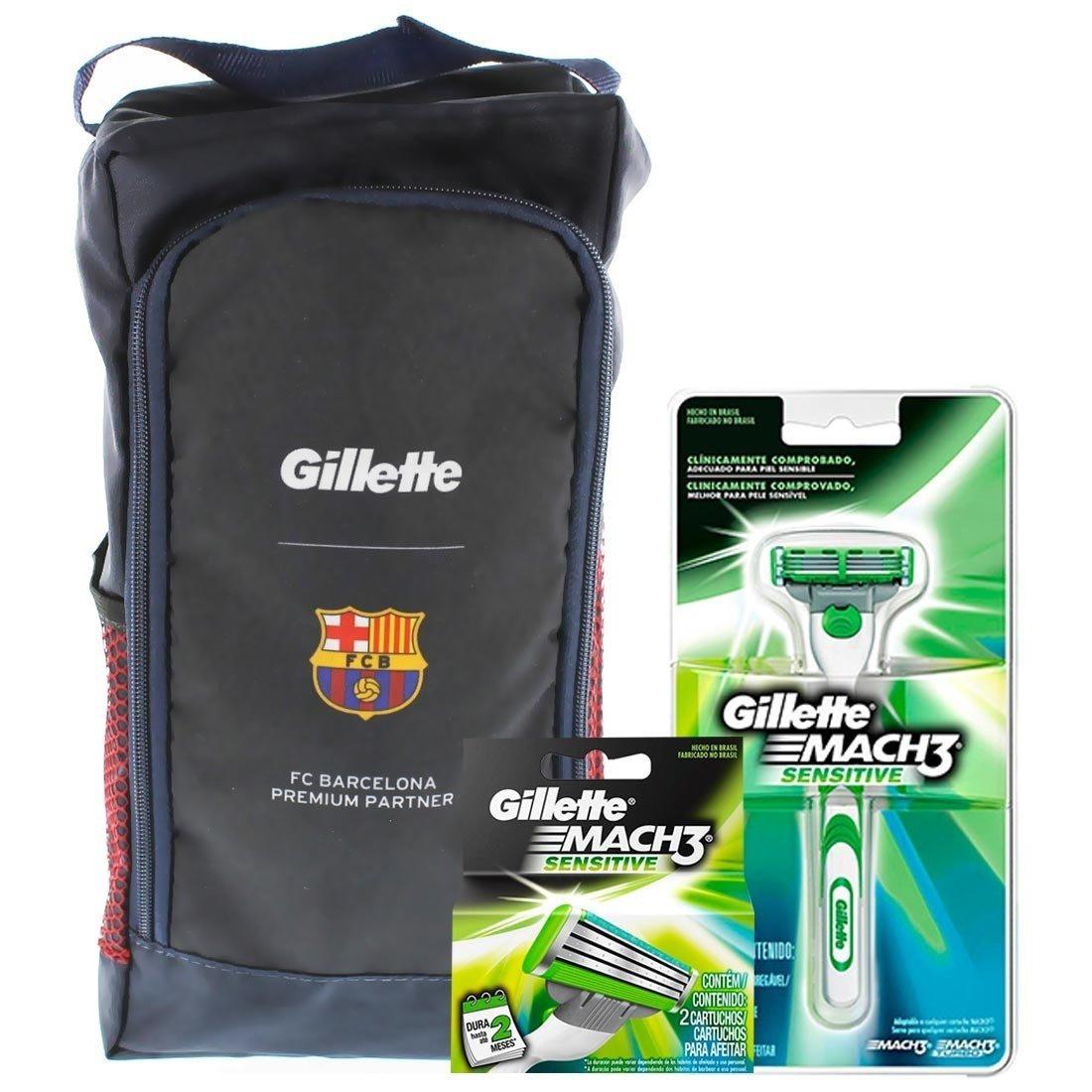 kit gillette mach3 sensitive 1 aparelho + 2 cargas barcelona. Carregando  zoom. d33ffdd81375e