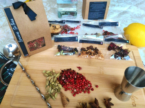 kit gin tônica caixa de especiarias sachês exclusivos luxo