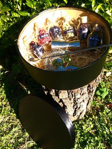 kit gin tônica e especiarias caixa redonda