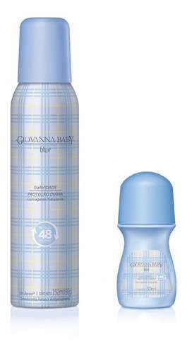 kit giovanna baby desodorante aerosol 150m & roll on de 50ml