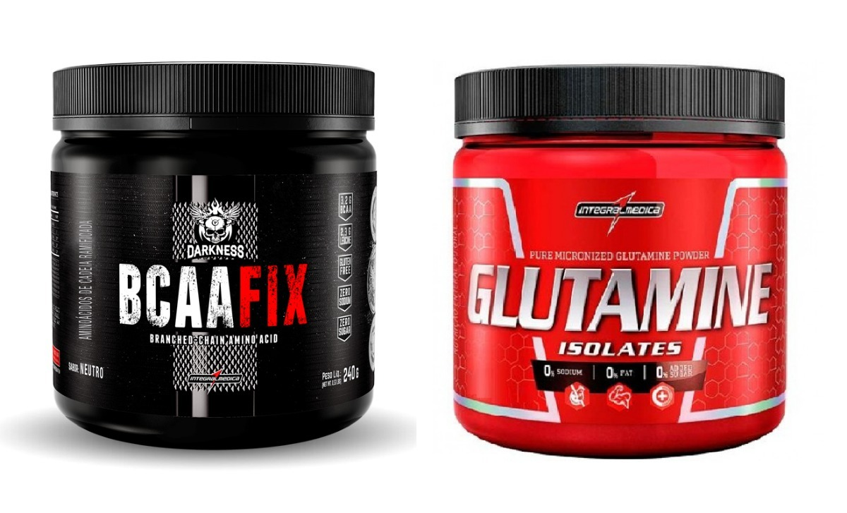 0559d9448 kit glutamina 300g + bcaa fix powder 240g integralmédica. Carregando zoom.