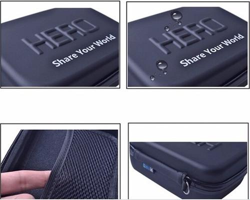 kit go pro 3 3+ 4 5 6 7 8 black maleta luva 3 way tripé boia