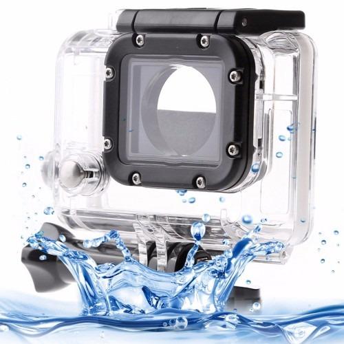 kit go pro 4/3/3+ pulseira rotação + case protetora estanque