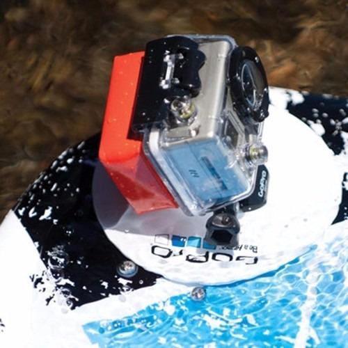kit go pro boia flutuadora adesivo 3m case quadro armação
