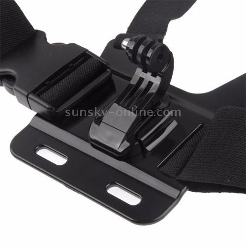 kit go pro cinturão cabeça ajustável e base frontal parafuso
