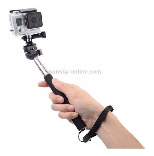 kit go pro flexivel pau de selfie mount parafuso adaptador