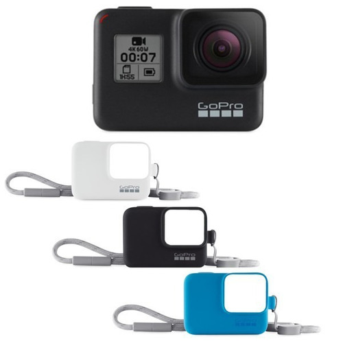 kit go pro hero 7 black e capinha silicone - original c/ nfe