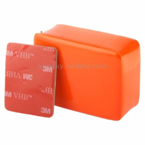 kit go pro hero caixa estanque+backdoor flutador+adesivo 3m