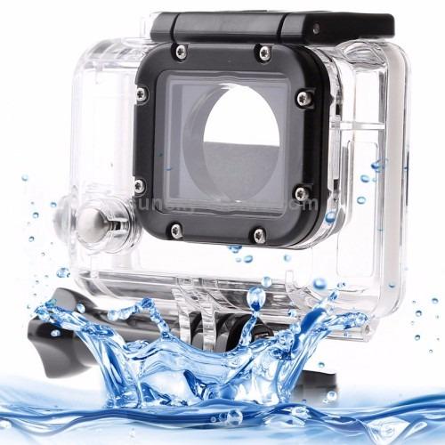 kit go pro hero estojo anti choque+caixa protetora estanque