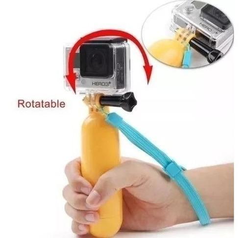 kit go pro session boia flutuante com pau de selfie e tripod