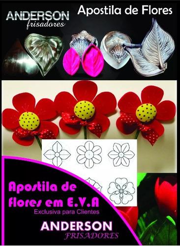 kit gofrador de flores eva em alumínio 20 peças + apostila b
