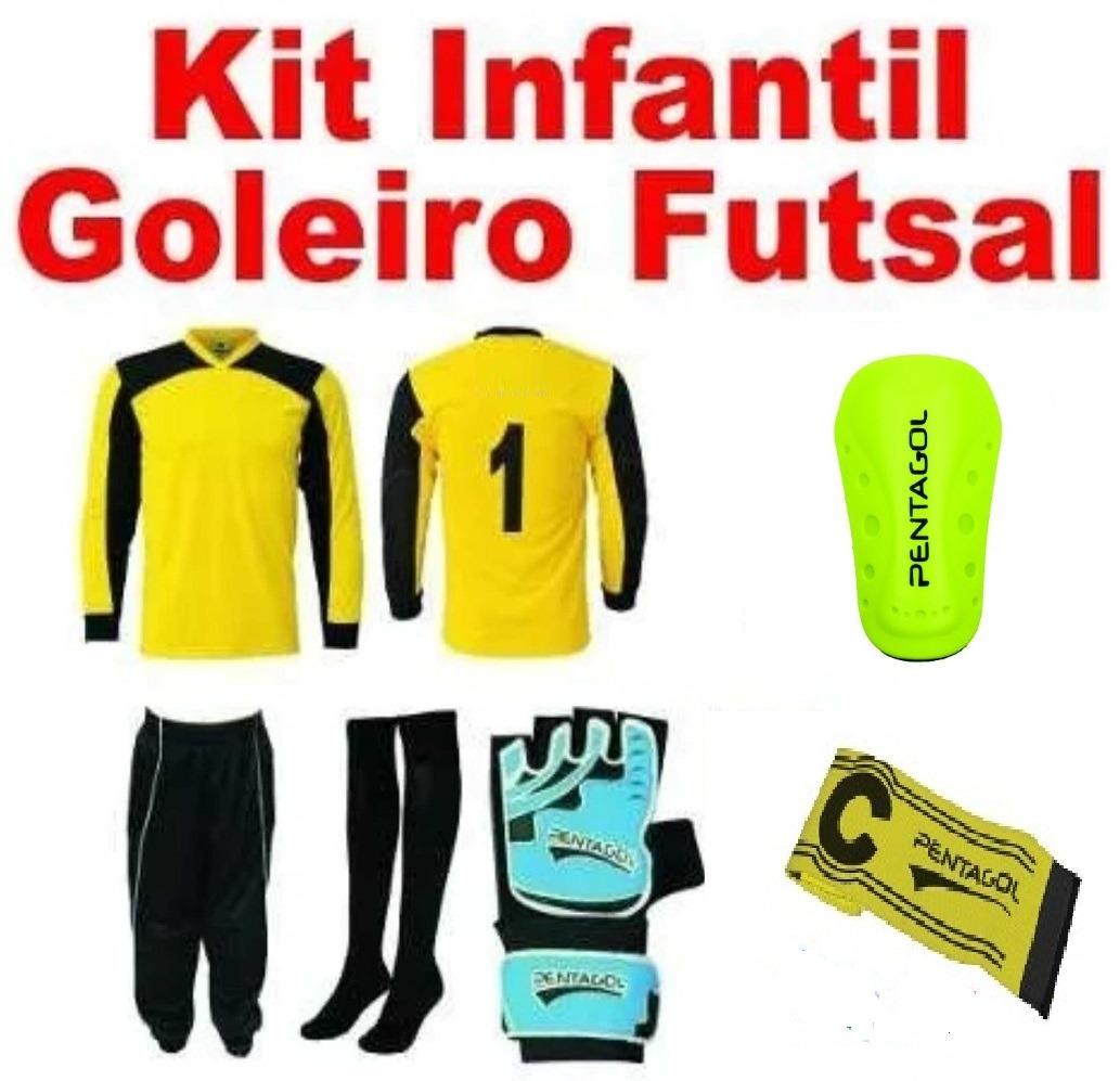afb955a109599 Kit Goleiro Futsal Infantil Sem A Camisa. 5 Peças - R  143