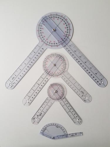 kit goniometros x 4 unidades. 6,8,12 + goniometro de dedos