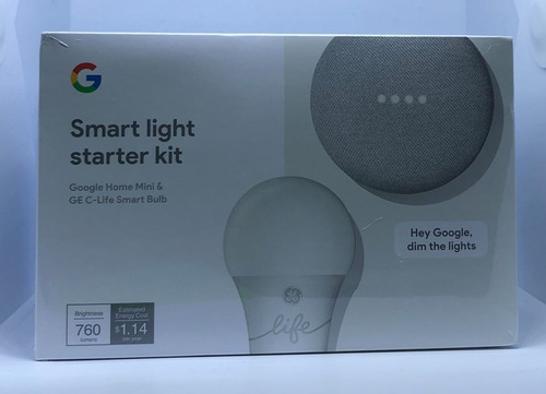 kit google home mini y foco inteligente ge c-life.