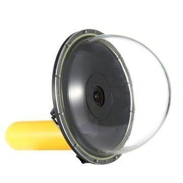 kit gopro 4 5 session dome 6 polegadas boia 3 way luva 360º