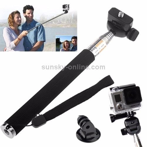 kit gopro bastão selfie monopod+caixa protetora+quadro
