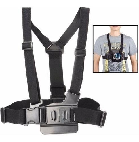 kit gopro faixa cabeça cinto peito guidão suporte universal
