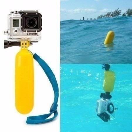 kit gopro flutuadores bastão flutuante+boia+alça de braço