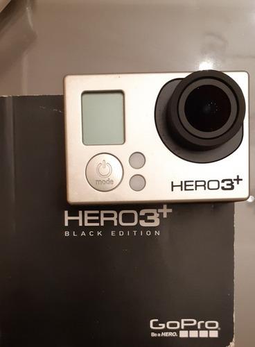 kit gopro hero 3+ black edition, sem bateria, com acessórios