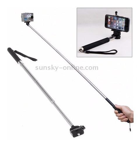 kit gopro hero 3 em 1 pau de selfie monopod tripod adaptador