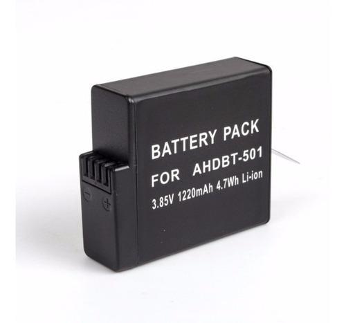 kit gopro hero 5 6 7 silver carregador duplo e bateria extra
