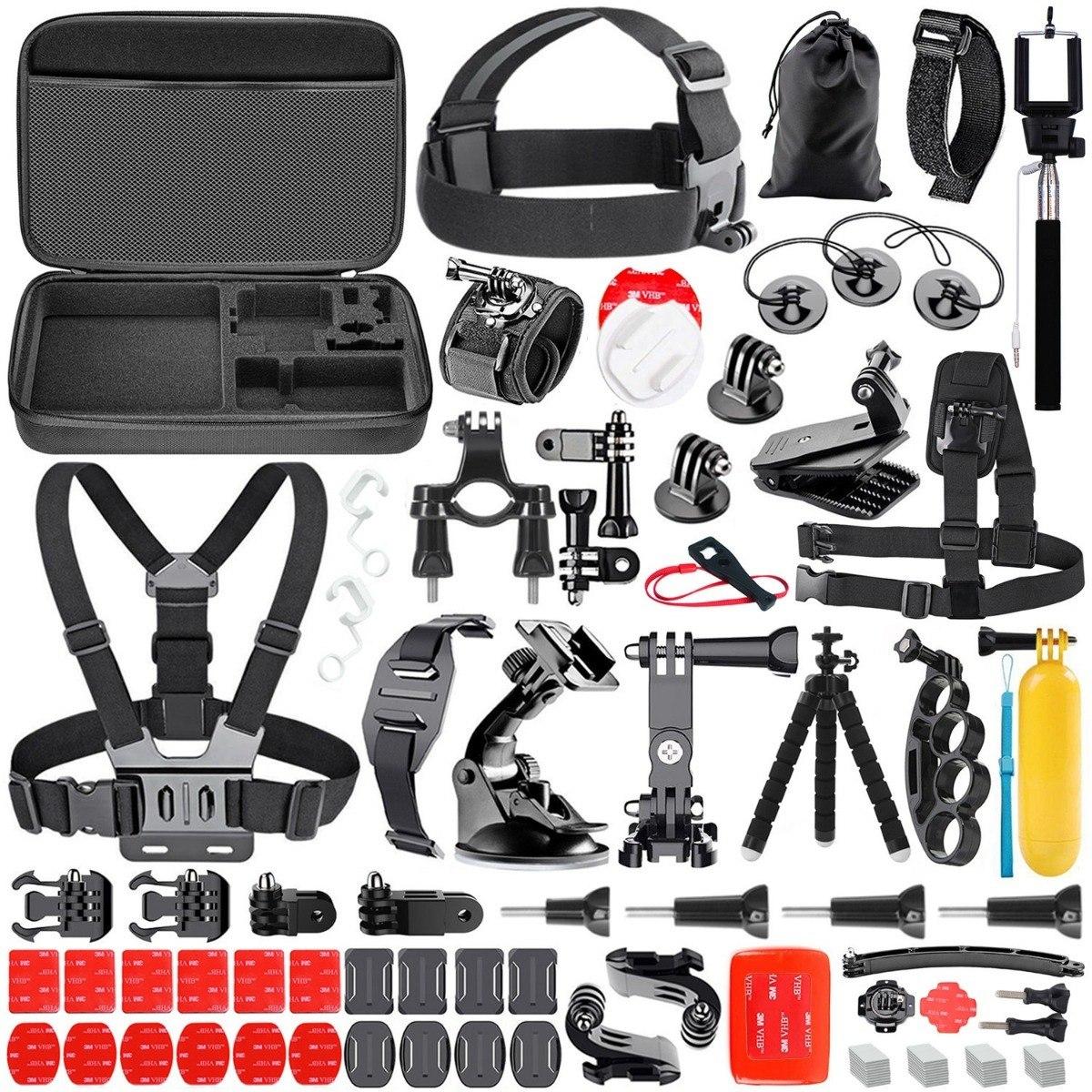 Cámara de acción 50 Piezas para GoPro Hero 7 6 5 Accesorios Kit de paquete de accesorios de montaje
