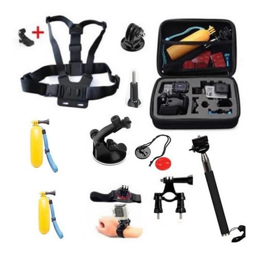 kit gopro hero 7/6/5/4/3 flutuante maleta suportes acessório