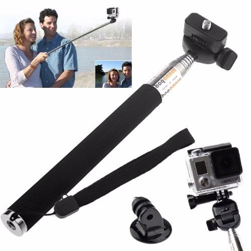 kit gopro quadro pau de selfie tripod pulseira quadro case