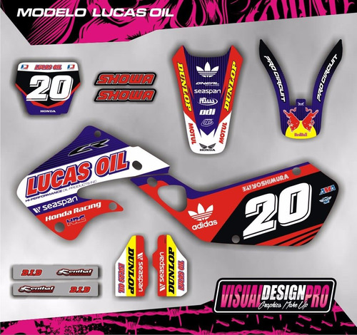kit grafica calco honda cr 125 - 250 - 98/99 - envio gratis!