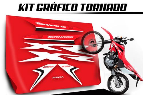 kit gráfico adesivo modelo honda tornado 250