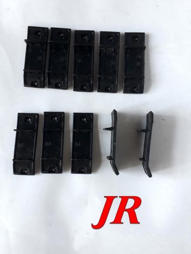 kit grampo friso lateral del rey 10 peças com aba