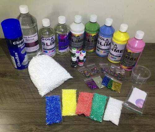 kit grande para fazer todo tipo de slime, ler a descrição!