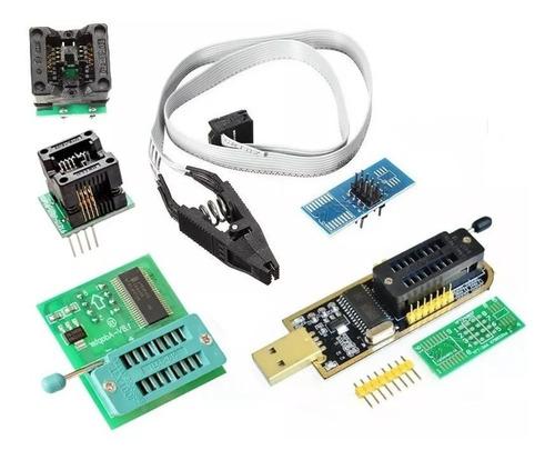 kit gravador ch341a ch341 + pinça soic + adaptadores + 1.8v