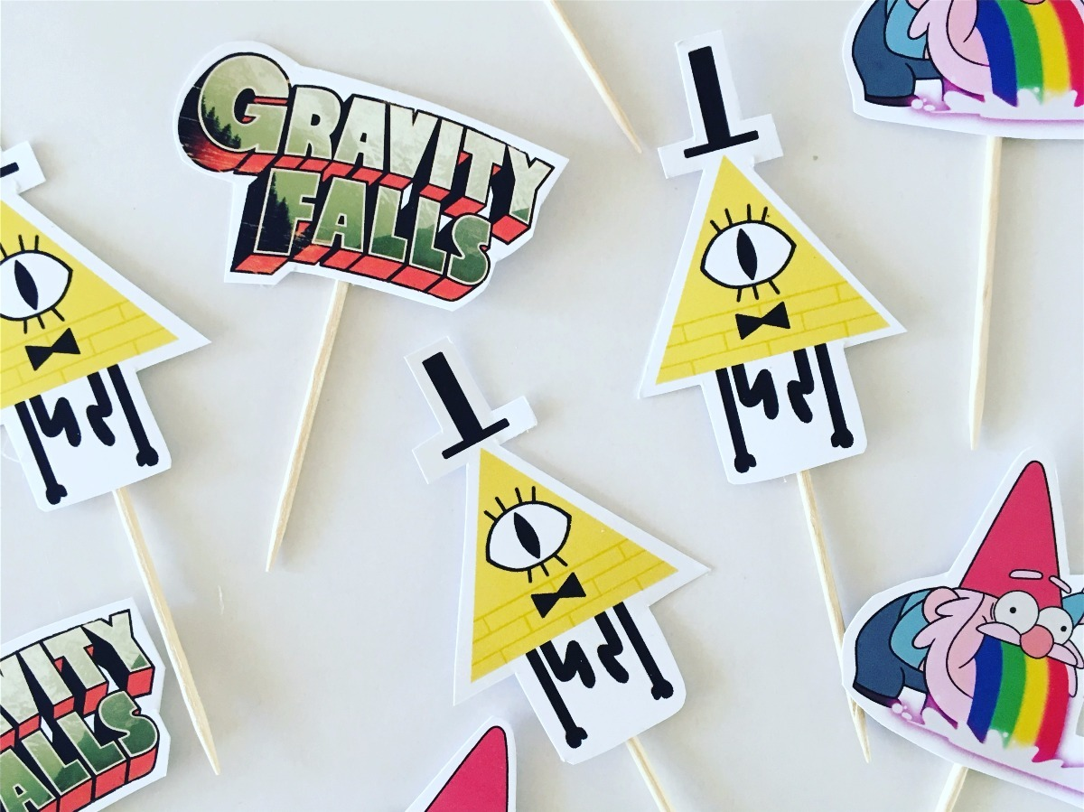 Kit Gravity Falls Banderines Toppers Cartel Cotillon 1 100 00 En