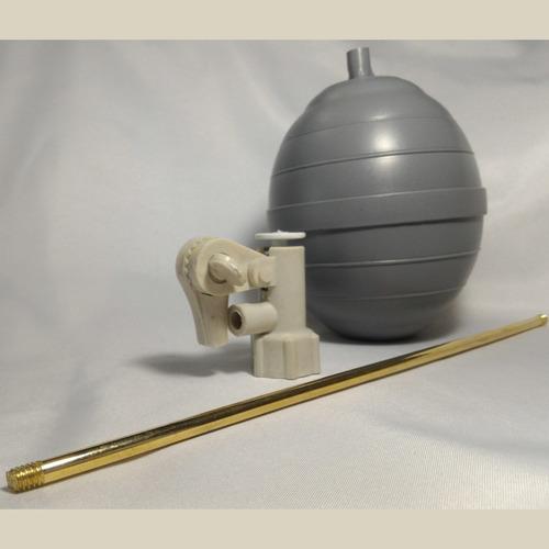 kit griferia plástica 1/2 varilla latonada tanque alto agua