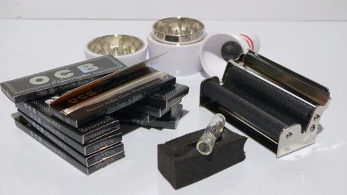 kit grinder boliche + 5 cajas ocb premium + boquilla