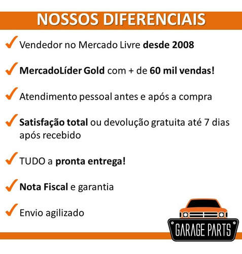 kit guarnição maçaneta 2 portas + malas gol g2 bola 95/