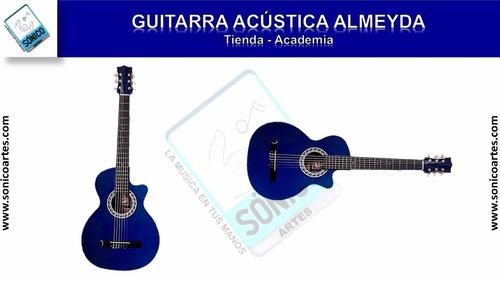 kit guitarra acustica almeida + forro sencillo (sónicoartes)