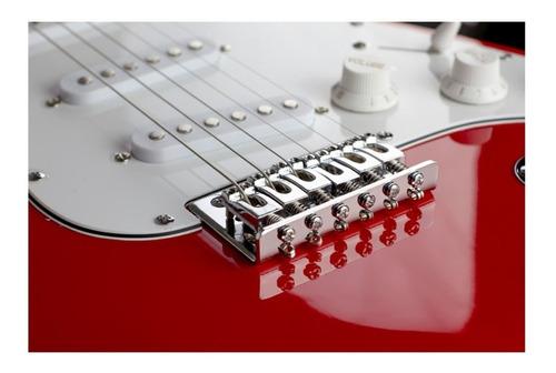 kit guitarra fender squier mainstream+capaluxo+cabo+afinador